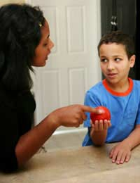 Healthy Eating Kids Children Setting An
